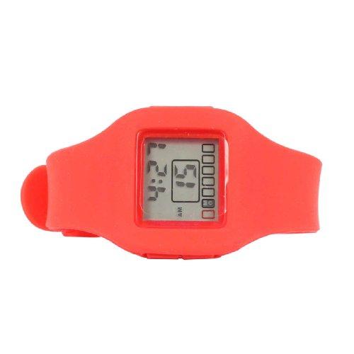 Impress - Reloj Digital de Pulsera (Silicona), Color Rojo