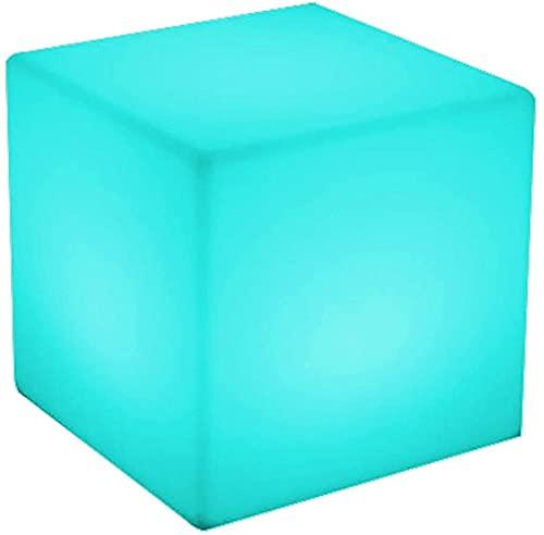Paddia 16 colores RGB Luz de noche interior 4 colores degradados Fiesta movible LED Cubo luminoso luminoso Taburete cuadrado Muebles al aire libre Luces de barra KTV Pub Bar Luminoso Led Cube Taburete