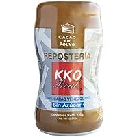 Polvo de Cacao Sin Azúcar, Puro y Natural 100% Venezolano - Cacao Puro en Polvo Desgrasado - KKO REAL Premier Reserva para Repostería (230 gr)