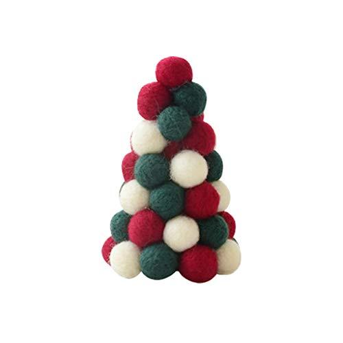 Mini Desktop künstlicher Weihnachtsbaum für Weihnachten Deko, Hukz Dekorativ Wollfilz Tischplatte Christbaum Tannenbaum Modell für Winter Wohnkultur