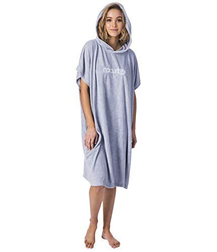 Ripcurl Womens Essentials Hooded Change Robe Poncho of veranderende Ripcurl voor strand Watersport en surfen - Lichtblauw