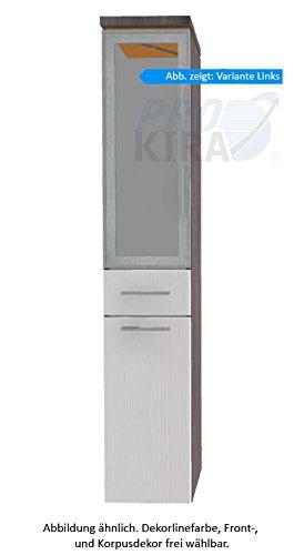 PURIS Cool Line armadio alto (hna053b5wl/R) Mobile da bagno, 30cm