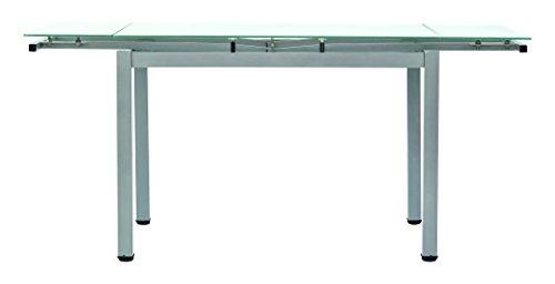 Fashion Commerce FC607 Tavolo, Metallo, Grigio, 110x70x76 cm