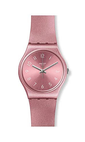 Swatch Damen Analog Quarz Uhr mit Silikon Armband GP161