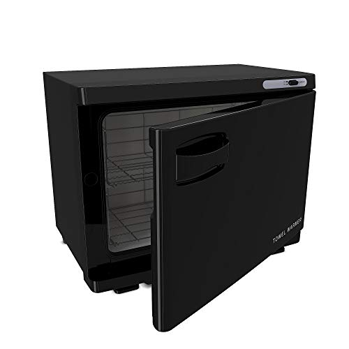 18L Black Professional Spa Hot Towel Cabinet and Family or Personal Towel Warmer