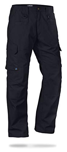 LA Police Gear Men's Water Resistant Operator Tactical Pant with Elastic Waistband Navy-34 x 30