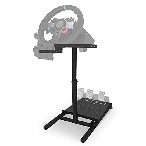 Eilsorrn Racing Steering Wheel Stand Foldable Racing Simulator Steering Wheel Stand for Logitech G25 G27 G29 G920 PS3 PS4 PS5 Xbox 360 Xbox One Most Thrustmaster - Wheel and Pedals NOT Included