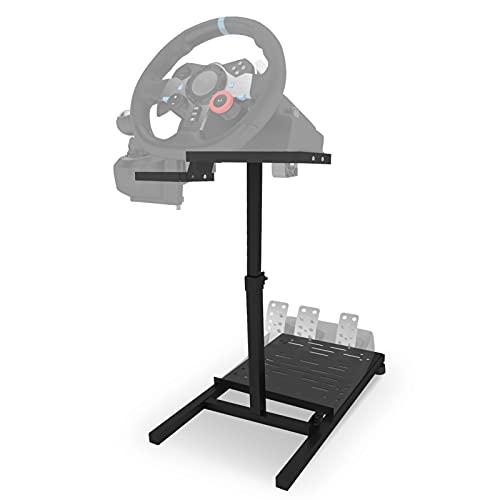 Eilsorrn Soporte para volante de carreras Soporte para volante de carreras Soporte plegable para volante de carreras para Logitech G25 / G27 / G29 / G920 PS3 / PS4 / PS5 Xbox 360/Xbox One Thrustmaster