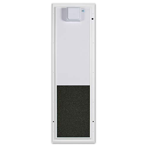 PlexiDor Performance PDE Electronic Pet Door for Dogs and Cats - Door Mount Dog Door - White, Large