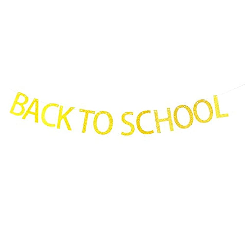 Back to School Banner Hanging Decor for School Fiesta Party Decorations Gold Banner Pertlife hoyyklnr0755