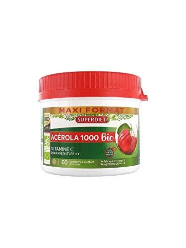 Superdiet - Acerola 1000 Bio A Croquer 60 Comprimes Superdiet