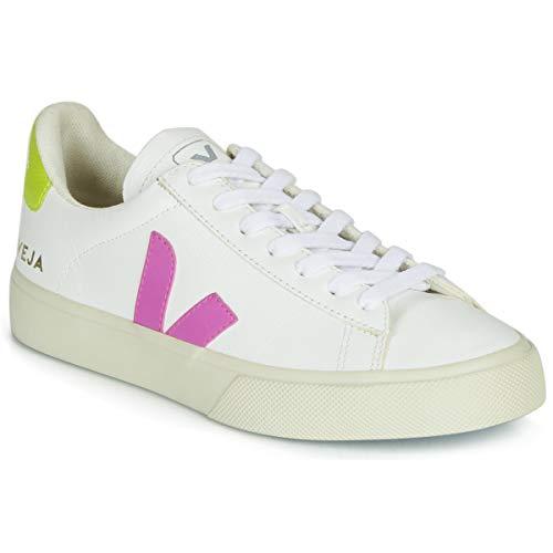 VEJA Campo Zapatillas Moda Femmes Blanco/Amarillo/Rosa - 41 - Zapatillas Bajas