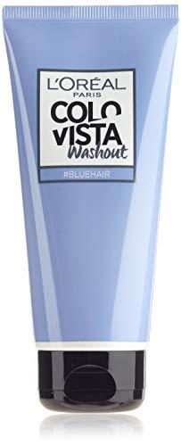 L'Oréal Paris Colovista 2-Week Washout #BLUEHAIR, Haarfarbe, auswaschbar nach 5-10 Haarwäschen, in eisigem Blau, #DOITYOURWAY