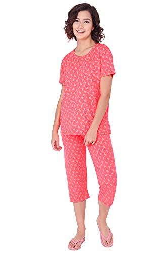 Fflirtygo Night Suit Set for Women Cotton, Night Dress, Lounge...