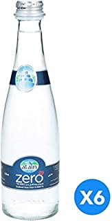 Al Ain Zero, Drinking Water in Glass Bottle - 330 ml (Pack of 6)