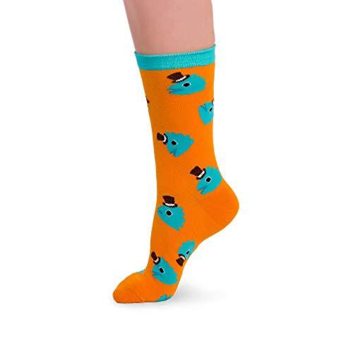 Crazy Sock Fisch Socken - Lustige Verrückte Baumwollsocken mit Crazy Design Geschenk