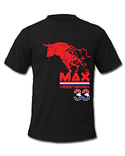 Cold Gun F1 Max Verstappen 33 Formel 1 Rennfahrer T-Shirt Gr. XL, Schwarz