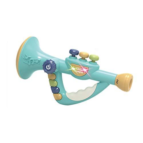 Lommer Trompete Kinder Spielzeug, Kinder Trompete mit Musik und Lichtern, Pädagogisches Musikinstrumentenspielzeug für Jungen und Mädchen