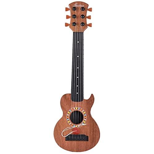 XYF Retro-Akustikgitarre 18 Zoll Tragbare Kleine Gitarre Kinder-Ukulele Kann Früh Gespielt Werden, Um Kinderanfängern Das Erlernen Von Stahlsaiten Beizubringen (Color : A, Size : 18 INCHES)