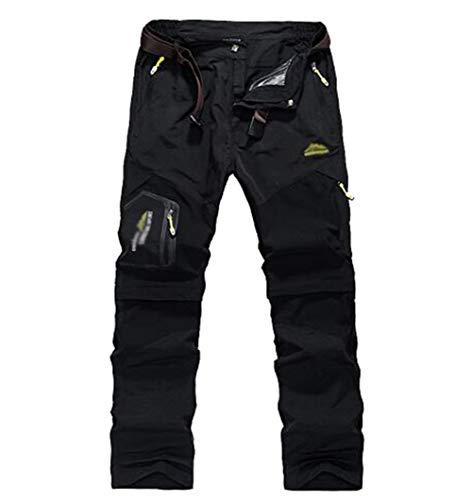 YiLianDaD Hombres Pantalone De Trekking Impermeable Secado Rápido Al Aire Libre De Respirable Pantalones Aire Libre