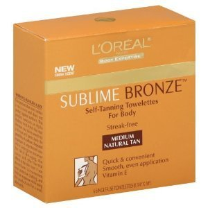 LOreal Paris Sublime Self Tanning Towelettes
