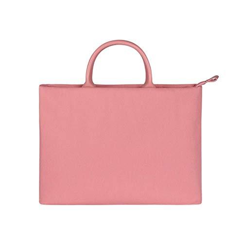 Women Laptop Bag for MacBook Air Pro Case Notebook 15.6 13.3 14 Zipper Handbag for Dell HP Acer Xiaomi Air Tablet Ladies Bag,Pink,15.6-inch