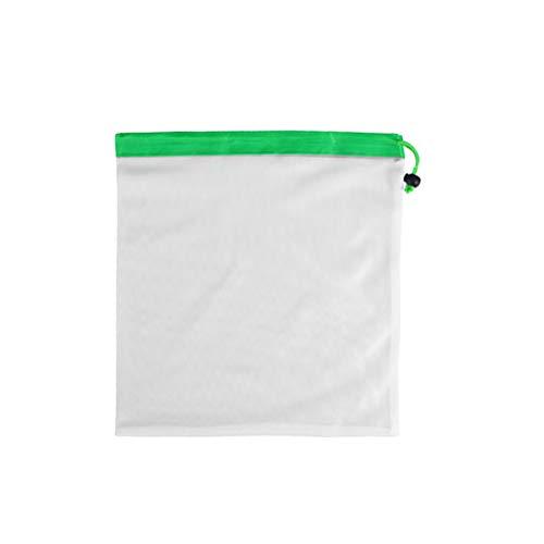 TOPBATHY Sacs réutilisables de Produit de Maille de 14 Pouces Sacs écologiques lavables pour Le Stockage d'épicerie Fruit Jouets de légumes BGS (Vert)