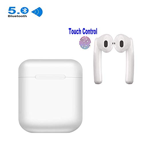 Wireless Earbuds Touch Control Deep Bass Stereo Bluetooth Headphones in-Ear Earphones Built-in Mic Noise Canceling Sweatproof Sports Wireless Headphone Bluetooth Earbud