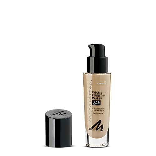 Manhattan Endless Idealion Make-up, Langanhaltende flüssig Foundation mit hoher Deckkraft, Farbe Rose Beige 64, 1 x 30ml