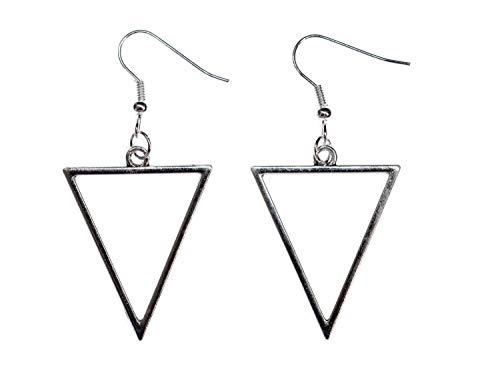 Miniblings triangle Boucles d'oreille boucle oreille géométrie de suspension métal argent forme abstraite - la mode des bijoux faits à la main I Boucles d'oreille d-oreilles argentait