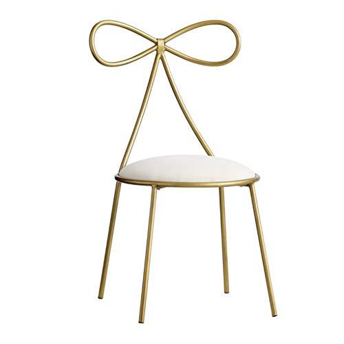 Home Warehouse Gold Restaurant Stuhl, Creative Butterfly Krawatte Stuhl Restaurant Cafe Dekoration Stuhl Mädchen Schlafzimmer Make-Up Stuhl Nagel Stuhl 40 * 40 * 80CM,Gold