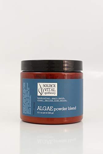 Source Vitál Apothecary   Algae Powder Blend   Bath Soak for Dry Skin and Fluid Retention   For Renewal and Balanced Skin   Laminaria and Calcareum   12.1 oz.