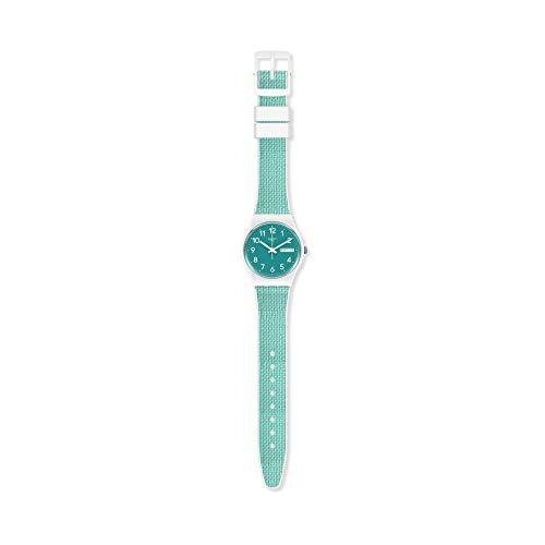 Swatch Unisex Analoger Quarz Uhr mit Kunststoff Armband GW714