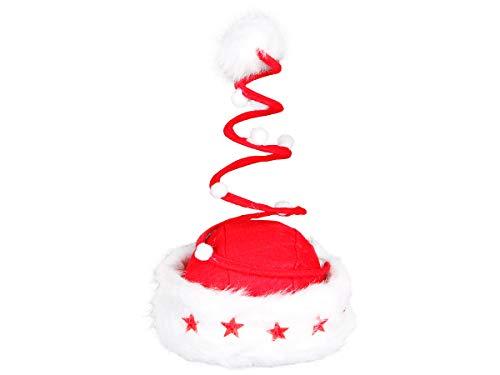 Alsino Weihnachtsmütze Nikolausmütze Fun Weihnachtsmützen, wählen:wm-16 Spirale LED