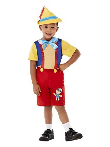 Luxuspiraten - Jungen Kinder Marionetten Boy Kleinkind Kostüm mit Einteiler und Hut, perfekt für Karneval und Halloween, 98-104, Rot