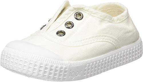 IGOR Jungen Unisex Kinder Berri Slip On Sneaker, Weiß, 30 EU