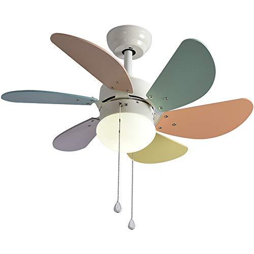 DXX-HR Habitación de los niños de la lámpara creativa Restaurante/Living ventilador Habitación araña de luz LED Ventilador - Araña creativa del ventilador de la lámpara