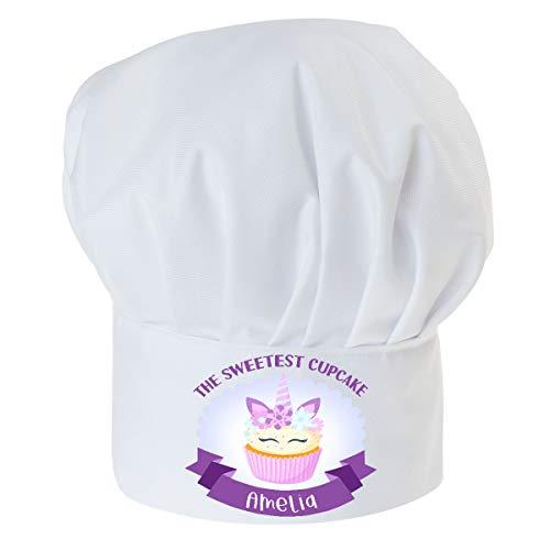 Gorro Cocinero para niños de niño Bebé de Cocina Ajustable con Velcro Gorro de Chef con Nombre/con Texto La Magdalena más Dulce con Nombre [099]