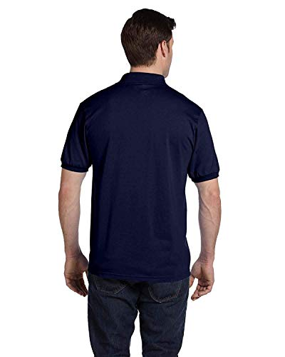 Hanes Adult ComfortBlend EcoSmart Jersey Polo Shirt, NVY, XX-Large