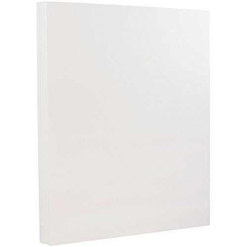 JAM PAPER Strathmore 80lb Cardstock - 8.5 x 11 Coverstock - 216 gsm - Bright White Linen - 30% recycled - 50 Sheets/Pack