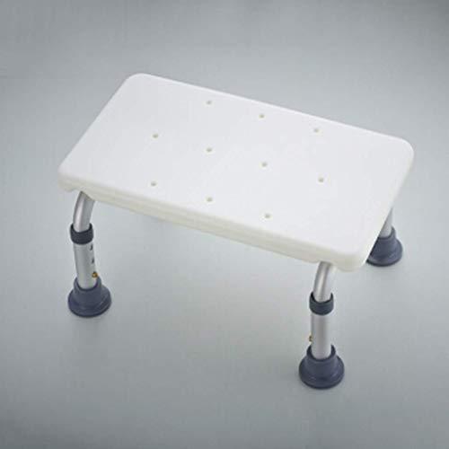 WXDP Autopropulsado Taburete de baño Taburete de baño Almohadilla de Inodoro Ajustable para niños Reposapiés Silla de Pedal telescópica Taburete de Ducha
