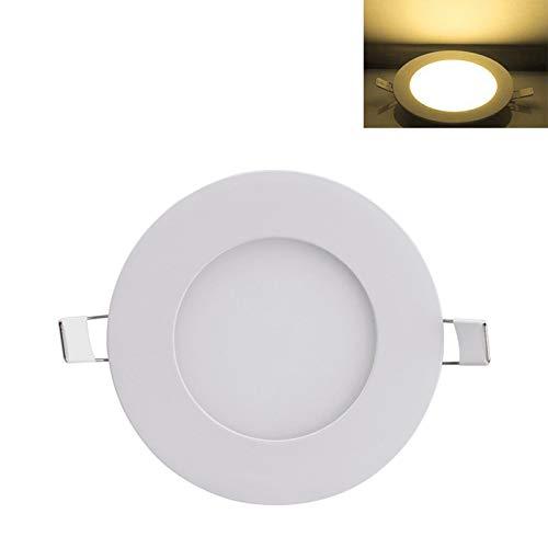 Honganrunli Foco LED empotrable, 6 W, 4000 K, 4500 K, 360 lúmenes, luz neutra, foco redondo para salón, cocina, oficina, tienda, hotel, diámetro 100 mm [Clase energética A]