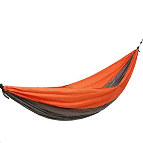 MAATCHH Jardín Hamaca de Camping Paracaídas portátil Hamaca Individual Doble Acampar Ligero Hamaca Cubierta compartida al Aire Libre Viaje de Senderismo Portátil para al Aire Montañismo Viajes