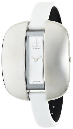 Calvin Klein Damen Analog Quarz Uhr mit Leder Armband K2E23126