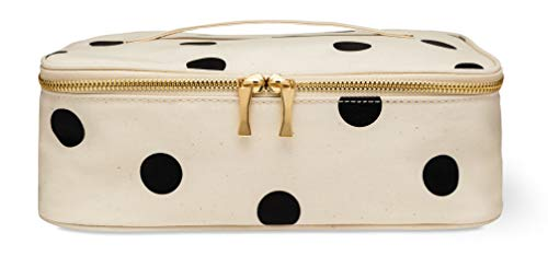 Kate Spade New York Insulated Lunch Carrier Bag for Women, Travel Makeup Bag, Polka