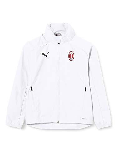 PUMA Acm Training Rain Jacket Jr Chaqueta Impermeable, Unisex niños, White/Tango Red, 128