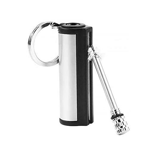 Key Rings Metal Keychain Lighter Fire Starter Stainless Steel Emergency Survival Tool for Outdoor Camping Watch Jewelry Accessories