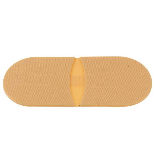 P Prettyia Schuhbedarf Ferse Gummisohlen zur Reparatur von Schuhsohlen, Anti Rutsch, 4 Farben zur Auswahl - Hautfarbe