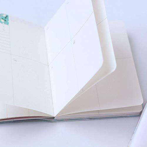 None/Brand Agenda de impresión de Moda Planifique Este Cuaderno portátil Planifique mensualmente Este Material de Oficina