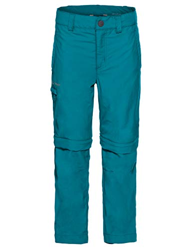VAUDE Kinder Hose Kids Detective Zip-Off Pants II, Abzippbare Kinderhose mit UV-Schutz, atoll, 110/116, 050589551160